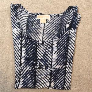 Michael Kors 2X blue lightweight print T-shirt